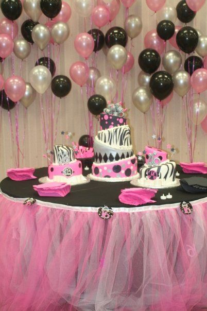 Sweet 16 Birthday Party Table Who Would Not Feel Like A
