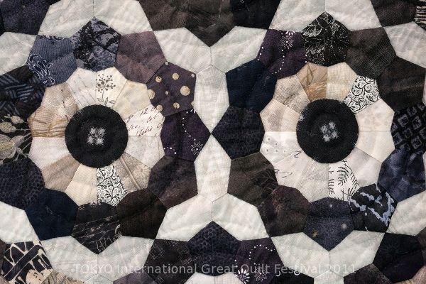 black & white quilt