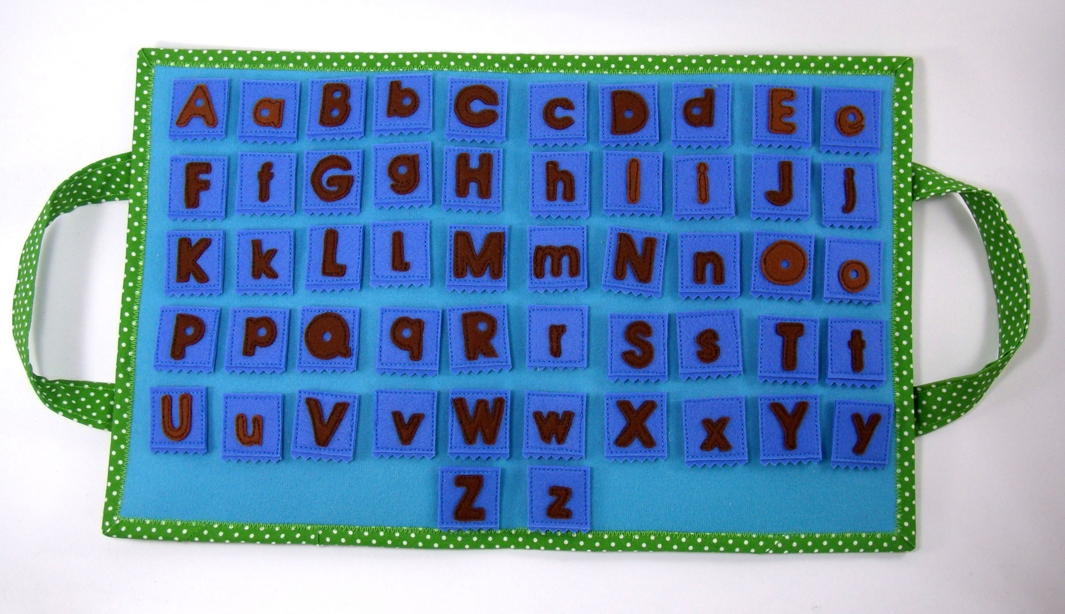 Alphabet felt play mat ABC sensory toy Quiet book Felt activity