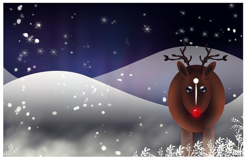 .:Rudolph the Reindeer:. by WhiteSpiritWolf on DeviantArt