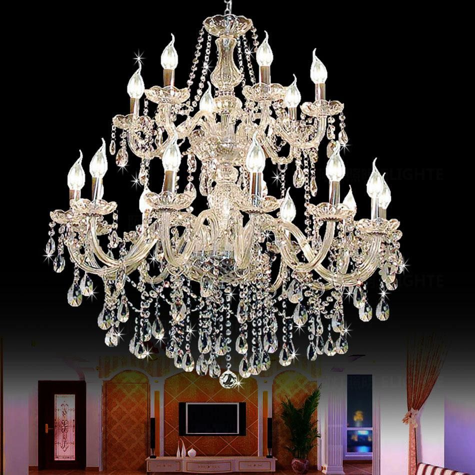 Large foyer modern chandelier stair long candle crystal chandelier large foyer modern chandelier stair long candle crystal chandelier fixture staircase lighting stairs long hanging chandelier arubaitofo Choice Image