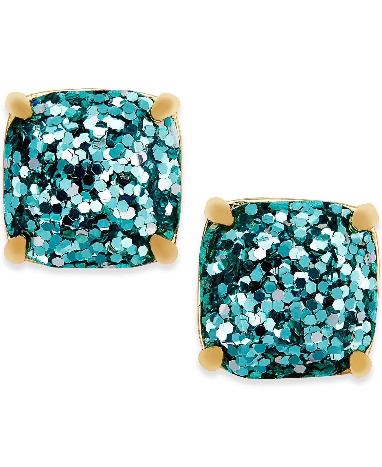 kate spade new york GoldTone Small Square Stud Earrings
