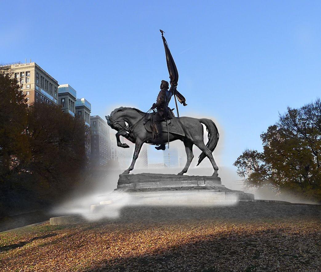 General john a logan monument in grant park grant park