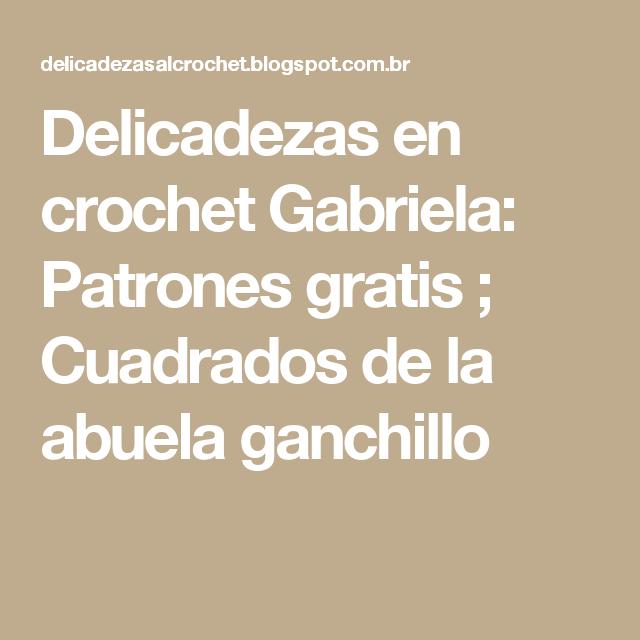 Dorable Patrones De Ganchillo Abuela Colección - Ideas de Patrones ...