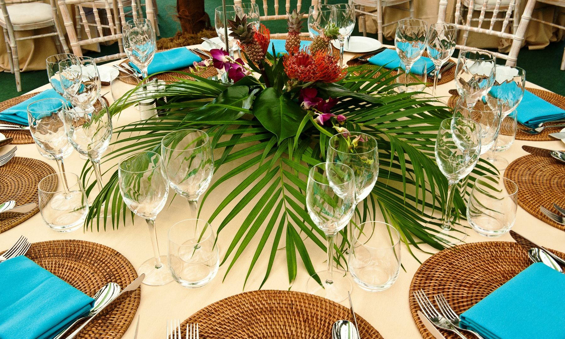 Tropical Flower Table Decorations Created By Apollo For A