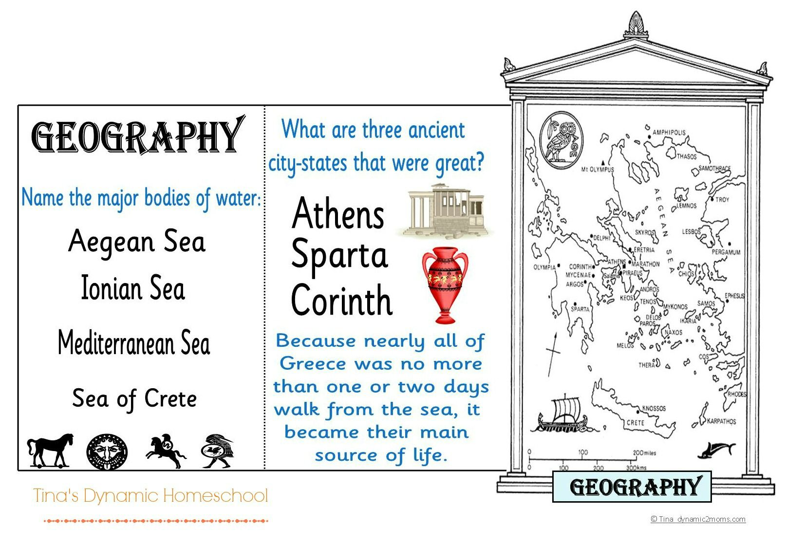Do A Minibook For Studying The Geography Of Ancient Greece
