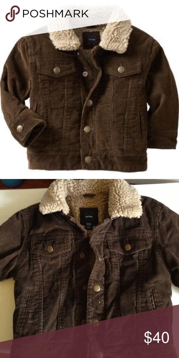 Brown Corduroy Gap Jacket Near New Gap Brand Womens Brown Sherpa