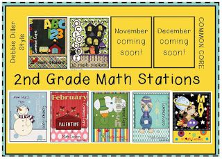 Debbie Diller Style Math Stations