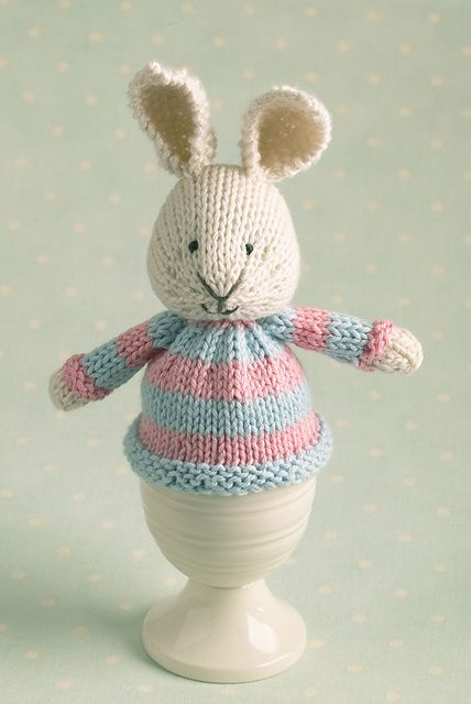 Knit Bunny Egg Cosie Knit Egg And Bottle Cozy Pattern Pinterest