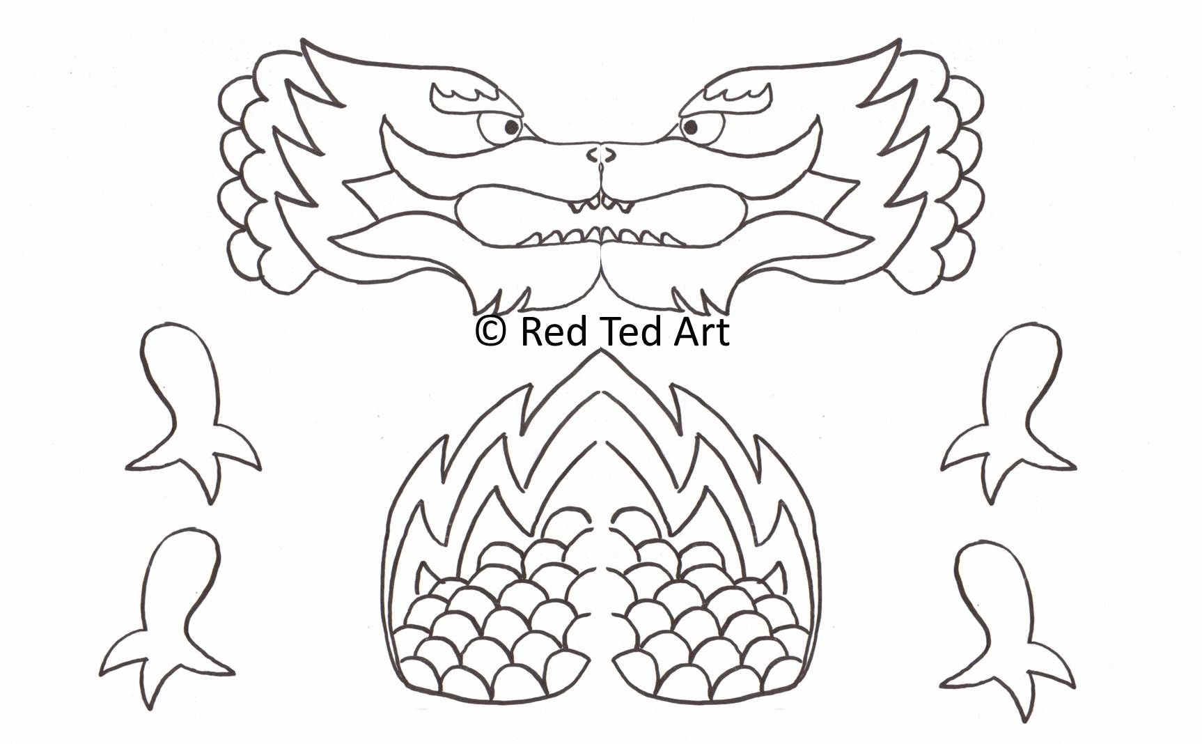 Free Printable To Make A Dragon Puppet
