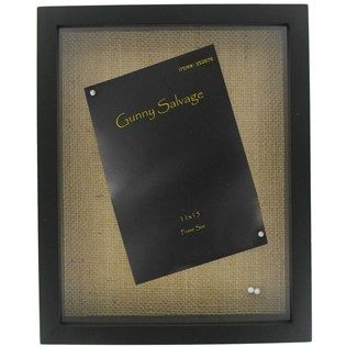 11 X 15 Black Shadow Box With Burlap Backing Hobby Lobby 29 99 Frame Size Total 12 Wide 16 High 1 3 4 Deep