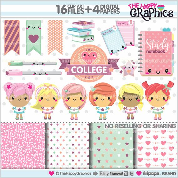 College graphics for COMMERCIAL USE - Clipart - Back to School- Faculty
