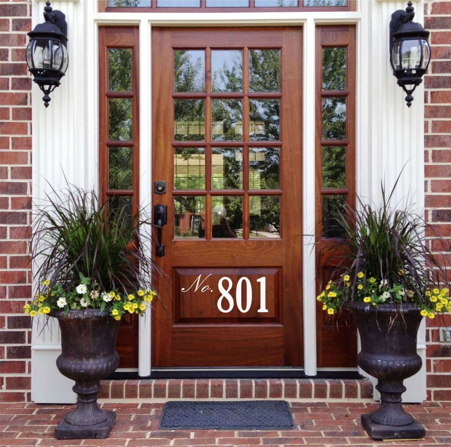 21 Cool Front Door Designs For Houses: Home Address Vinyl Wall Decal Sticker