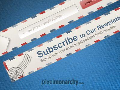 Newsletter Envelope Signup Form Form Design Website Layout Web