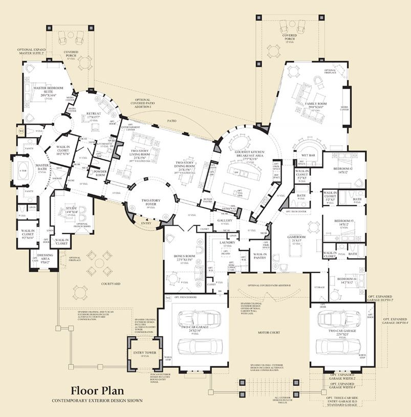 Saguaro Estates The Villarica Home Design Dream House Plans Floor Plans How To Plan