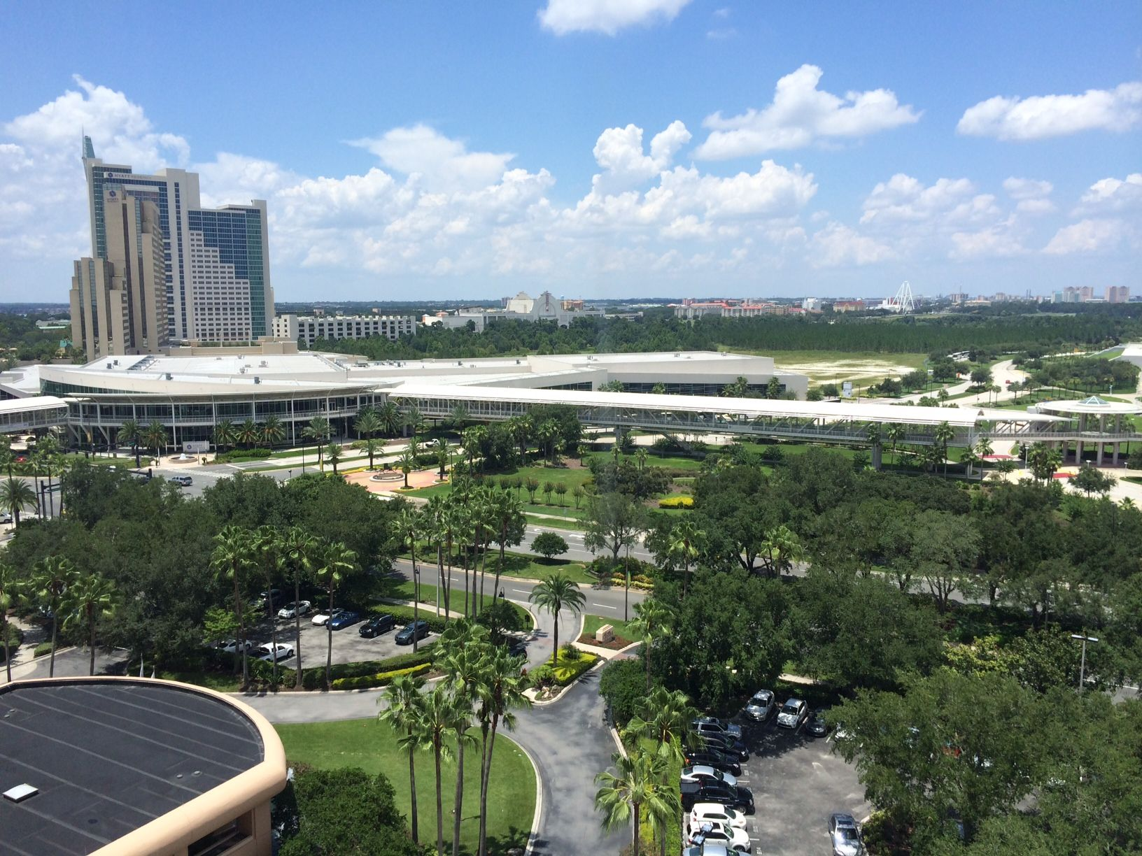 Hotel view in Orlando, Florida for trade show event during July 24-25, 2014.