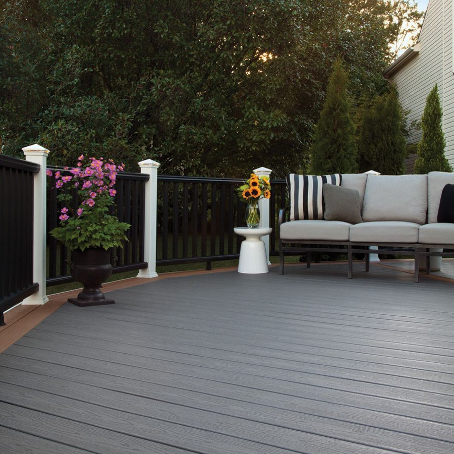 Shop Trex Enhance Clam Shell Ultra Low Maintenance Ulm Composite Decking Common 1 In X 6 In X 12 Ft Actual Trex Deck Colors Deck Colors Decks Backyard