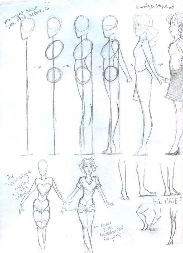 Cuerpo Mujer Dibujos Tutoriales De Arte Cosas De Dibujo