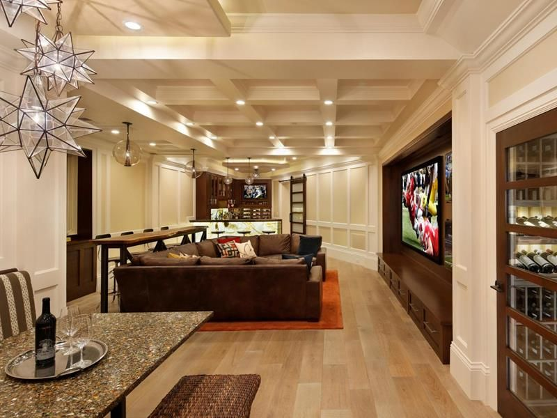 27 Luxury Finished Basement Designs Finished Basement Designs Family Room Design Finishing Basement