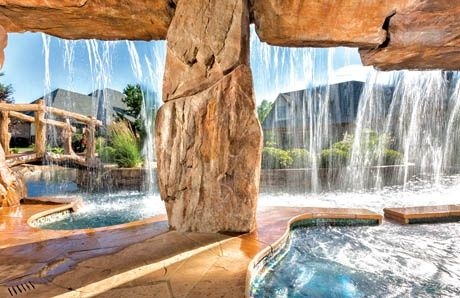grotto built by blue haven pools oklahoma city