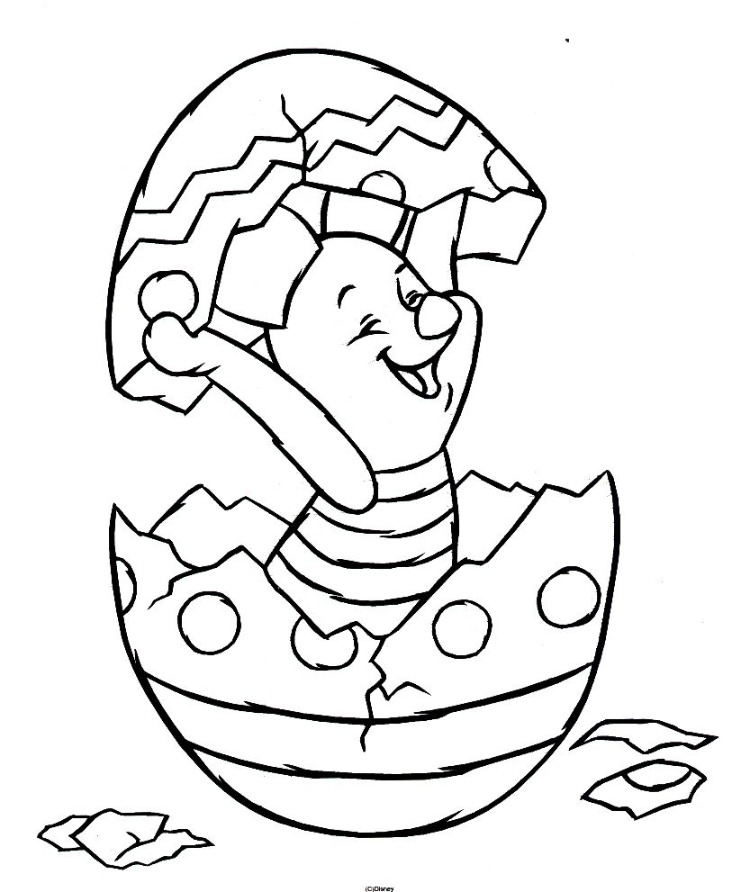 Easter Piglet Disney coloring pages, Easter coloring