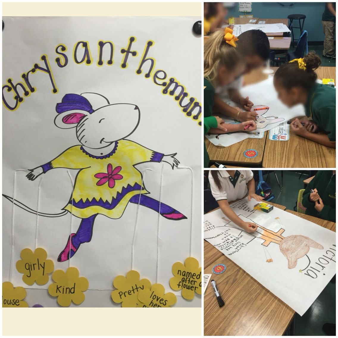 First Week Of School Activity Chrysanthemum Character