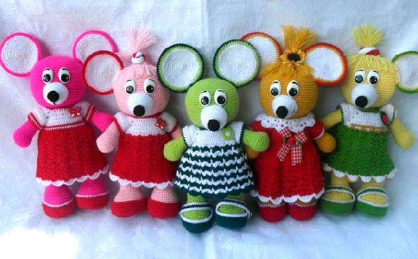 вязаная крючком игрушка мышка анюта описание игрушки вязание