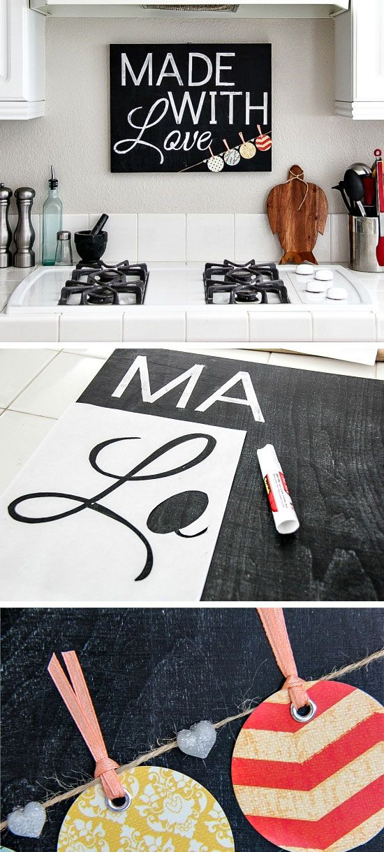 Simple Diy Kitchen Decoration Ideas 8 Chalkboard Kitchen Sign
