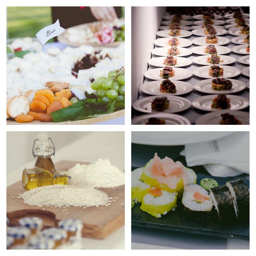 Decoración del catering en bodas Wednesday Decor for the wedding food in Wednesday Wedding Planners' weddings