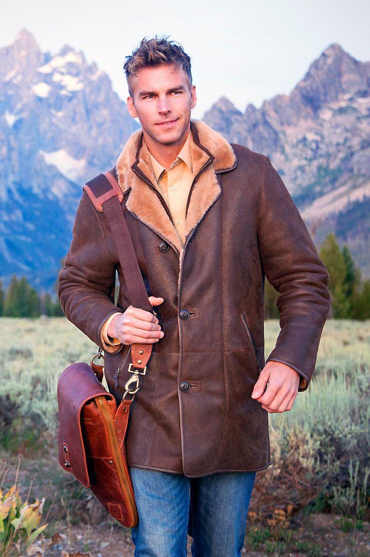 Men's Daniel Shearling Sheepskin Coat by Overland