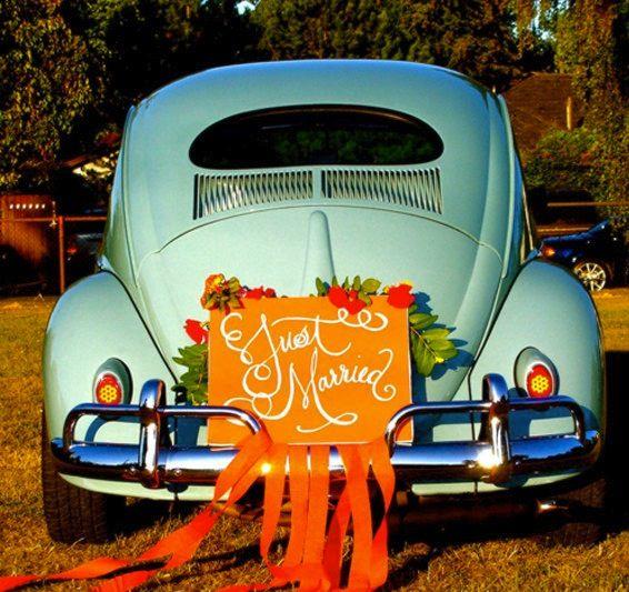 Just Married Auto Malvorlage