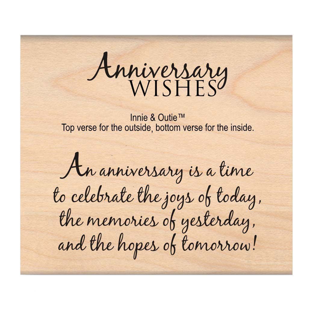 50th Wedding Anniversary Quotes: My Sentiments Exactly Mounted Stamp 2.5inx3in Anniversary