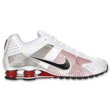 186a236f6514e3 Nike Shox R4 Flywire Mens Running Shoe White Black Red 386154 101 ...