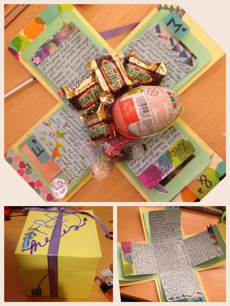 Carta creativa de 3 meses para novio regalos pinterest para novios creativo y novios - Regalo bebe 3 meses ...
