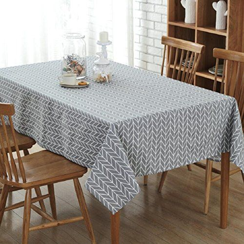 GLG Home Plaid Pattern Tablecloth Canvas Tablecloth Restaurant - Conference table covers
