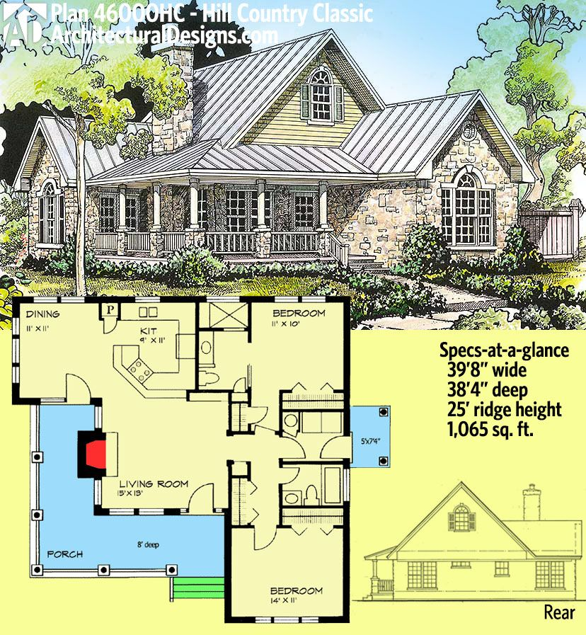 Architectural Designs Hill Country Classic House Plan 46000HC Gives You  Overu2026