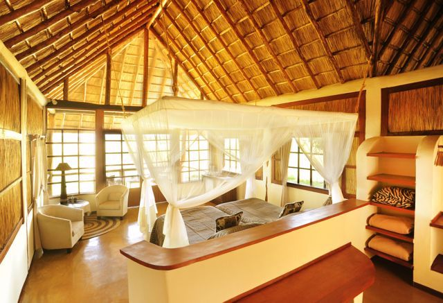 Kafunta River Lodge chalet interior