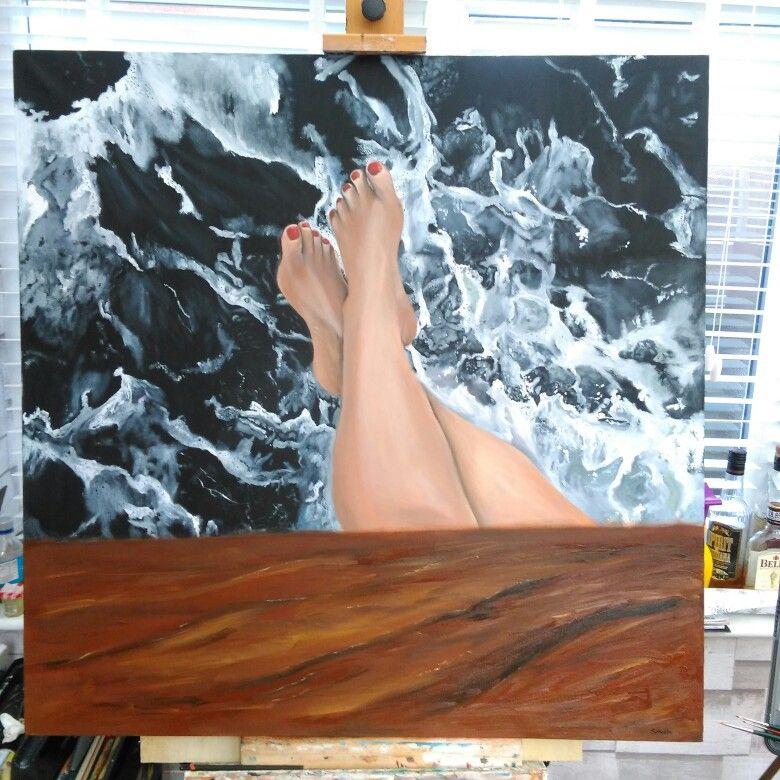 """sea legs"" oil on canvas 36""X36"""