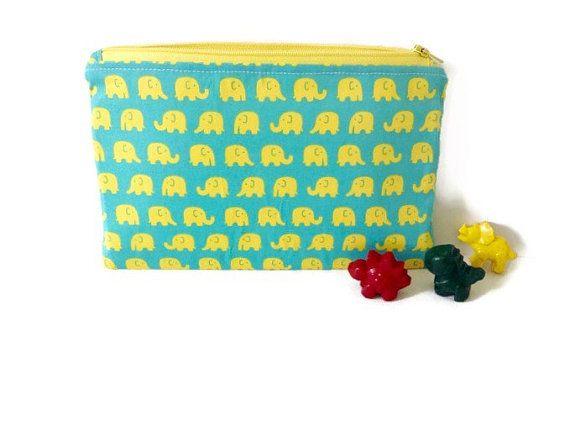 Funky Elephant Pencil Case / Makeup Bag by SchminklePinks on Etsy