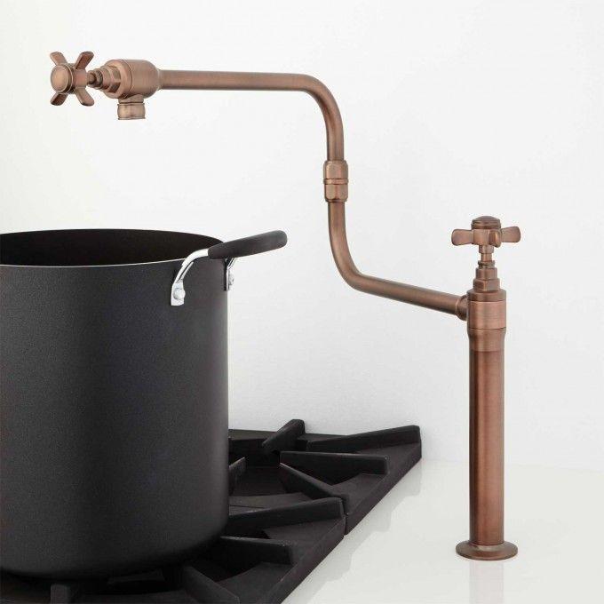 Tifton Deck Mount Retractable Pot Filler Pot Filler Pot Filler Kitchen Pot Filler Faucet