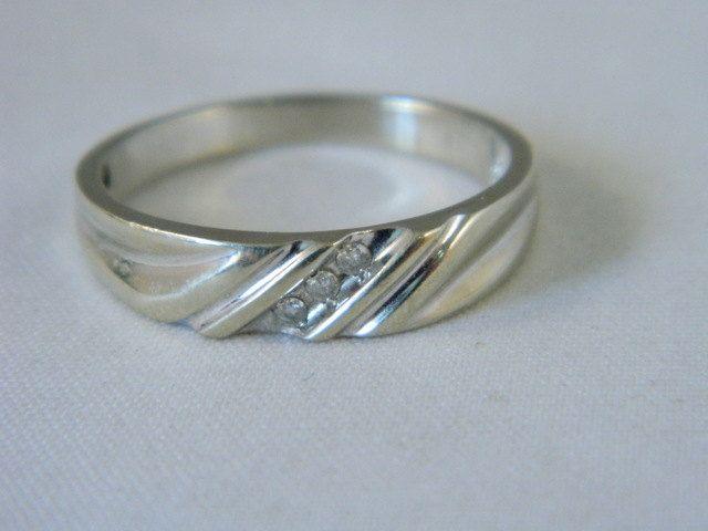 Mens 10k White Gold Wedding Ring Vintage White Gold And Etsy Gold Wedding Rings Vintage Rings For Men White Gold Wedding Rings