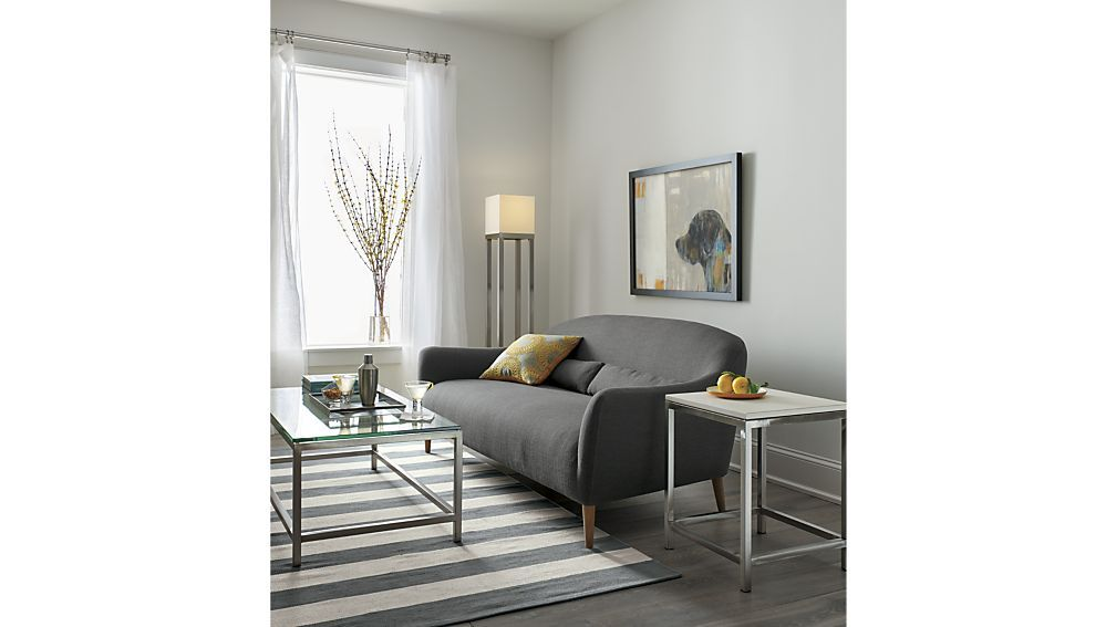 Incroyable Pennie Sofa Lindy: Charcoal | Crate And Barrel