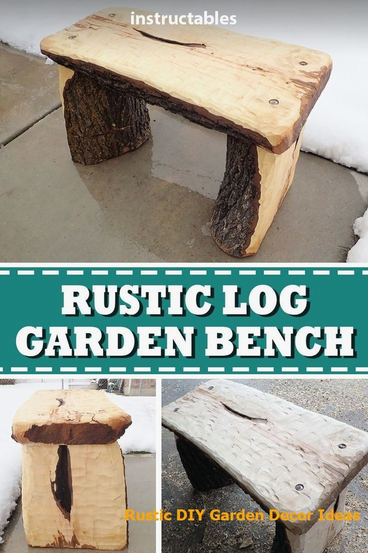 Couchtisch Tatia 16 Creative And Rustic Garden Diys | Garden Bench, Rustic Outdoor Furniture, Rustic Garden Decor