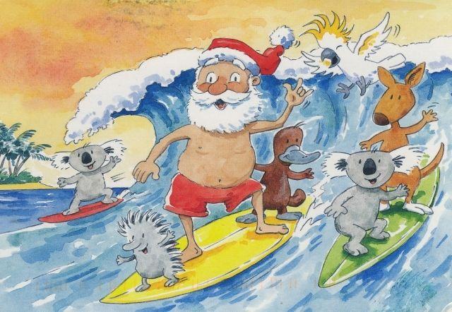 Christmas In Australia Santa.A Summertime Holiday Down Under Australian Christmas