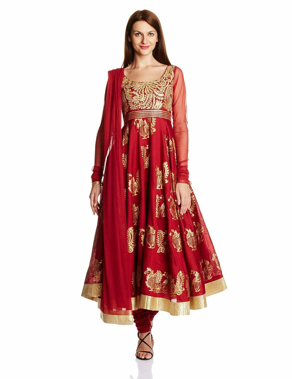 6b584af59b5 Biba Women s Cotton Anarkali Salwar Suit