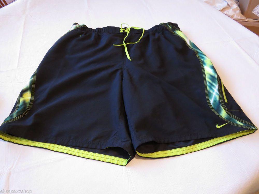 Men's swim trunks board shorts Nike 717384 black 309 ness4358 mm101 XXL xxlarge #Nike #swimshorts