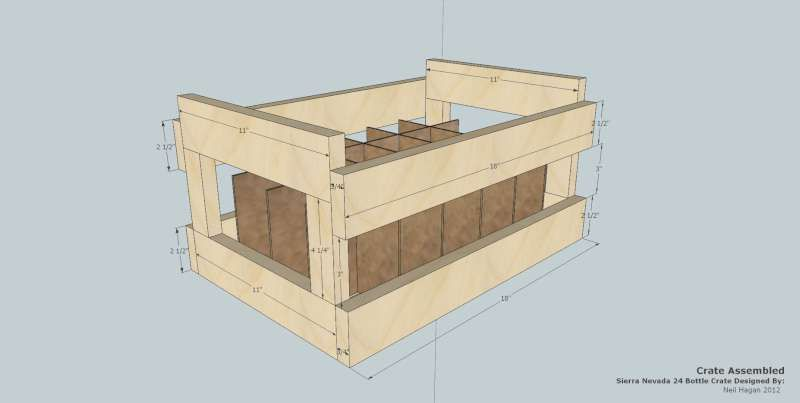 diy beer crate 24 sierra nevada bottles sketchup plans