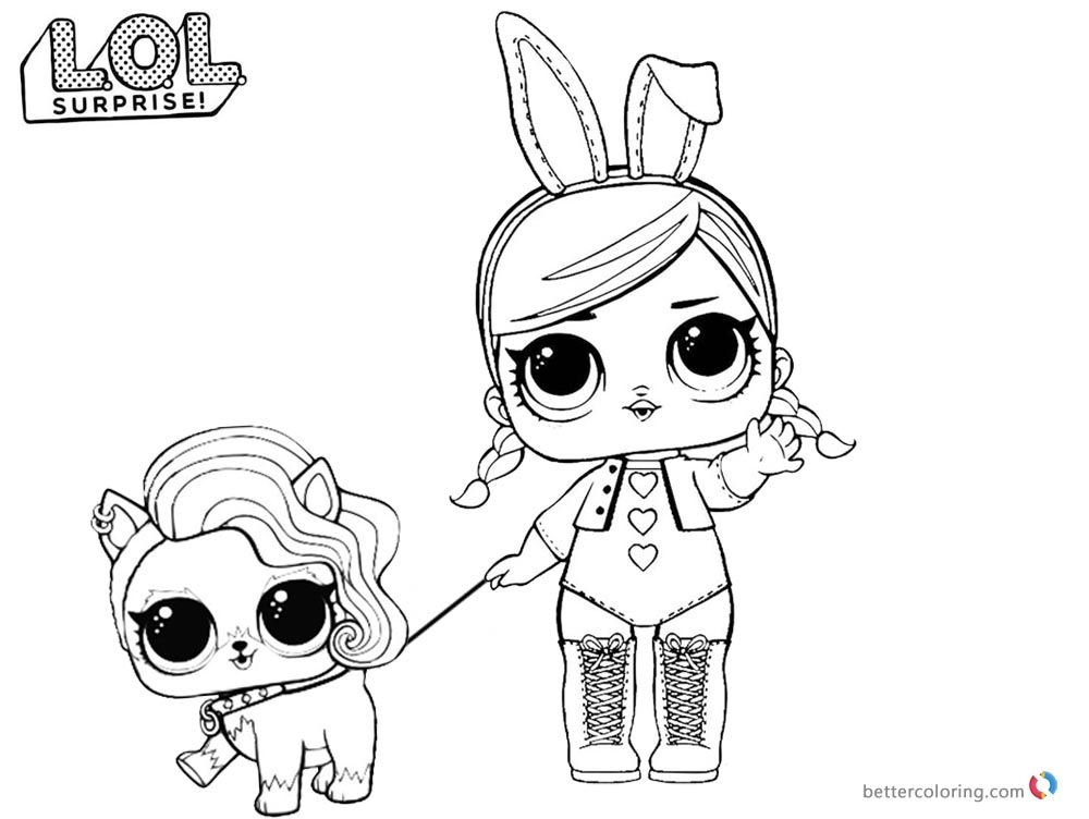 Rocker Lol Doll Coloring Page Background