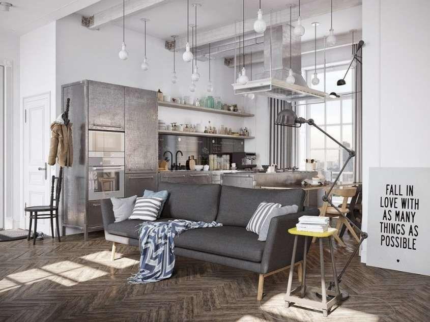 Arredare il soggiorno in stile industriale
