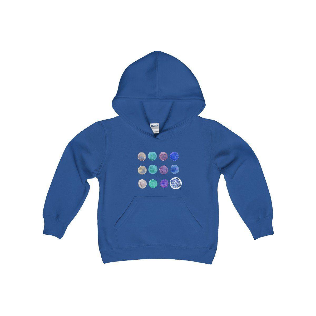 White Cute Polka Dots Kids Heavy Blend Hooded Sweatshirt Made In Usa Sweatshirts Hooded Sweatshirts Cool Shirts [ 1200 x 1200 Pixel ]